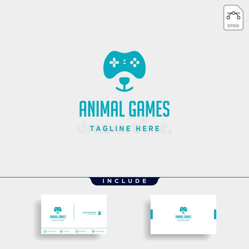 draag controlemechanisme van het de ontwerpsjabloon het dierlijke concept van het spelembleem vector illustratie