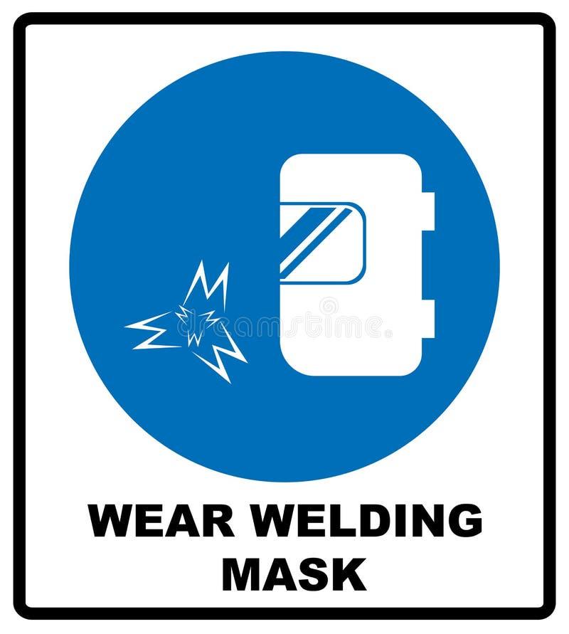 Draag een lassenmasker vector illustratie
