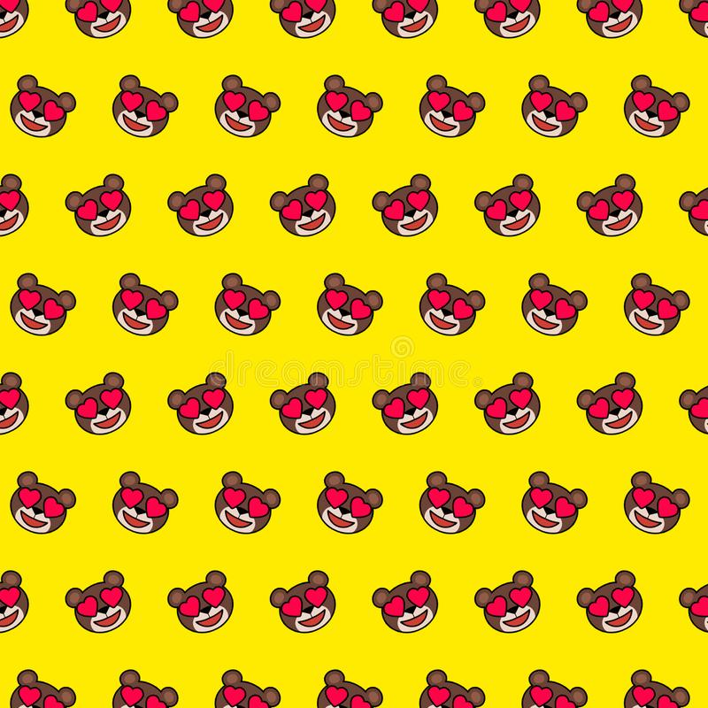 Draag - emojipatroon 13 stock illustratie