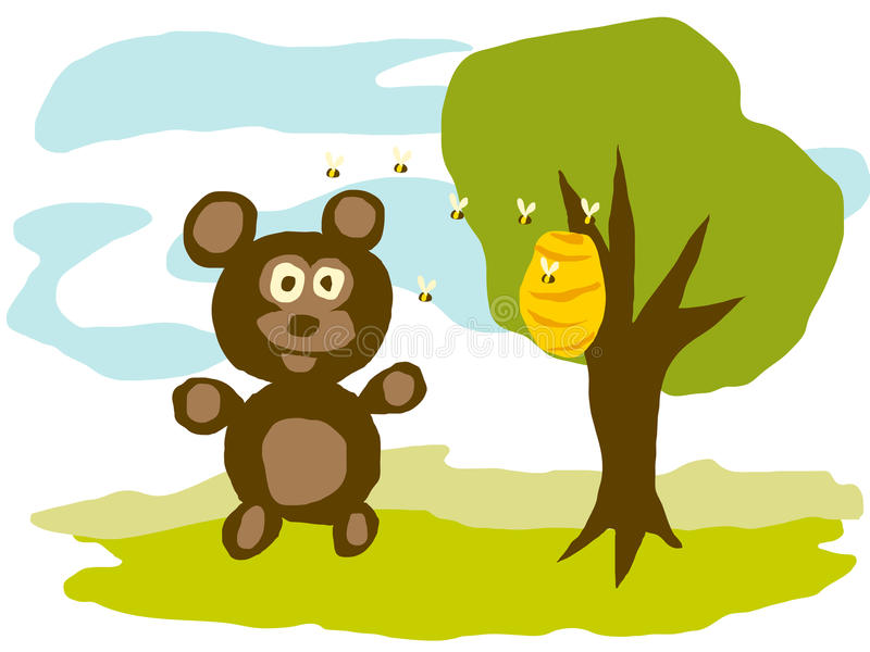 Draag en Bijen vector illustratie
