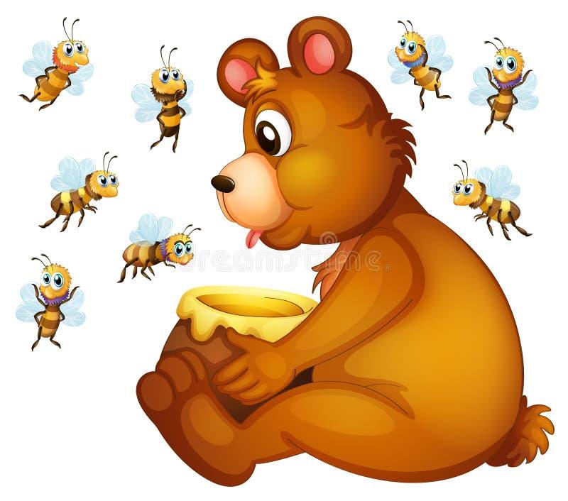 Draag en Bijen stock illustratie