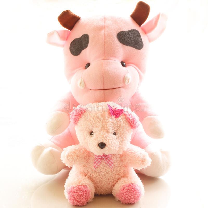 Draag en koe stock afbeelding