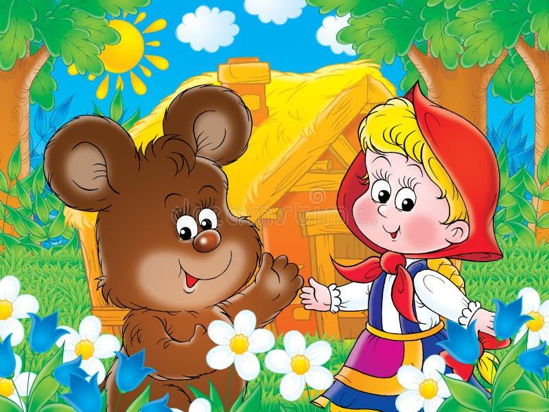 Draag en meisje stock illustratie