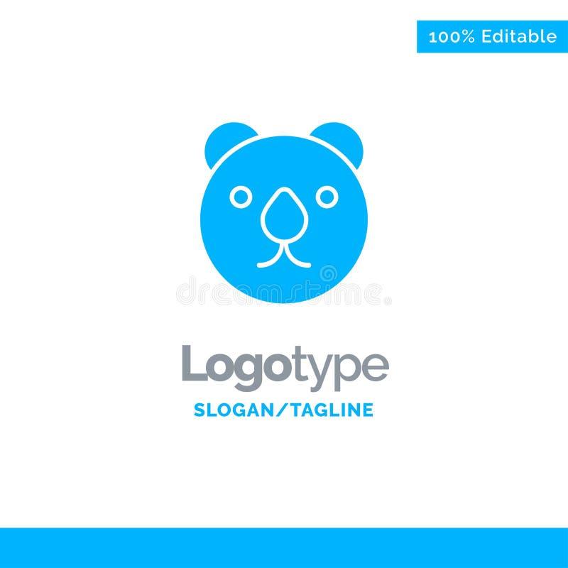 Draag, leid, Roofdier Blauw Stevig Logo Template Plaats voor Tagline royalty-vrije illustratie
