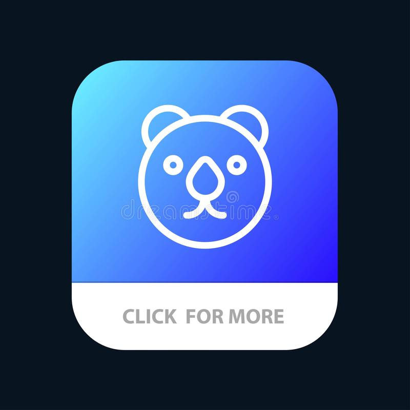 Draag, leid, Roofdiermobiele toepassingknoop Android en IOS Lijnversie royalty-vrije illustratie