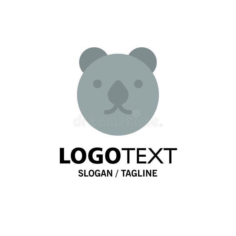Draag, leid, Roofdierzaken Logo Template vlakke kleur stock illustratie
