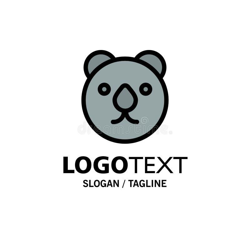Draag, leid, Roofdierzaken Logo Template vlakke kleur vector illustratie