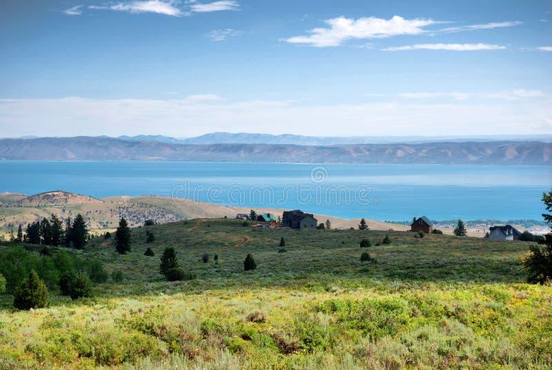 Draag Meer bij de grens Utah - Idaho stock afbeelding