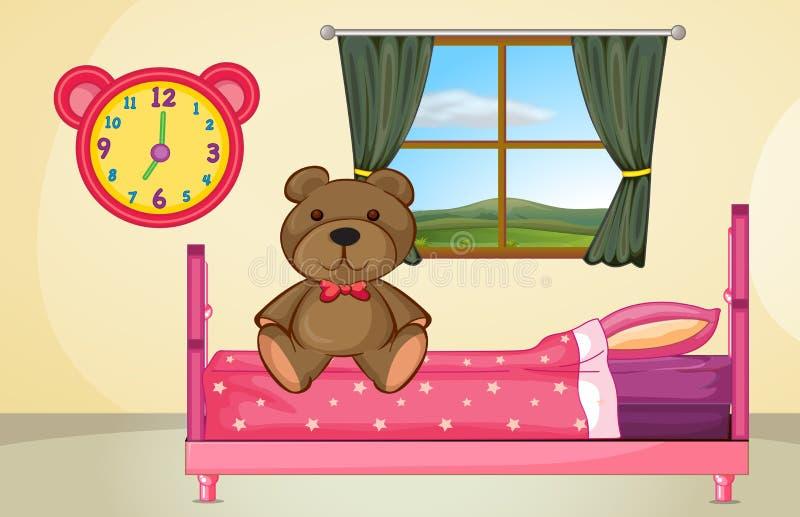 Draag op bed vector illustratie