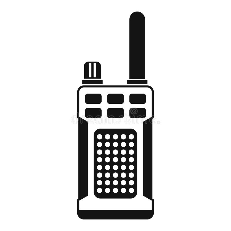 Draagbaar handbediend radiopictogram, eenvoudige stijl vector illustratie