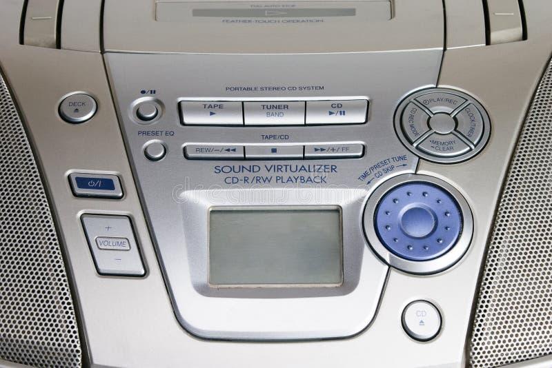 Draagbare CD spelercontroles royalty-vrije stock foto's