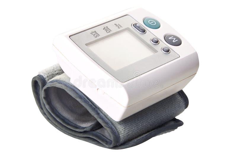 Draagbare digitale bloeddrukmeter royalty-vrije stock foto