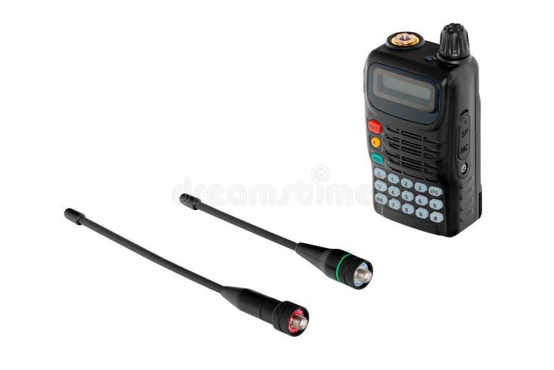 Draagbare radio met twee antennes stock fotografie