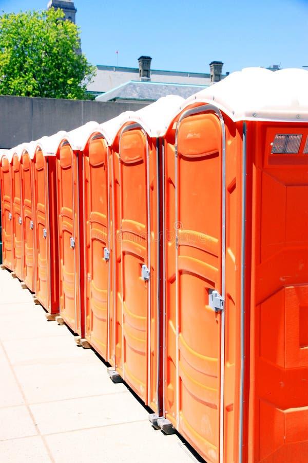Draagbare Toiletten royalty-vrije stock afbeelding