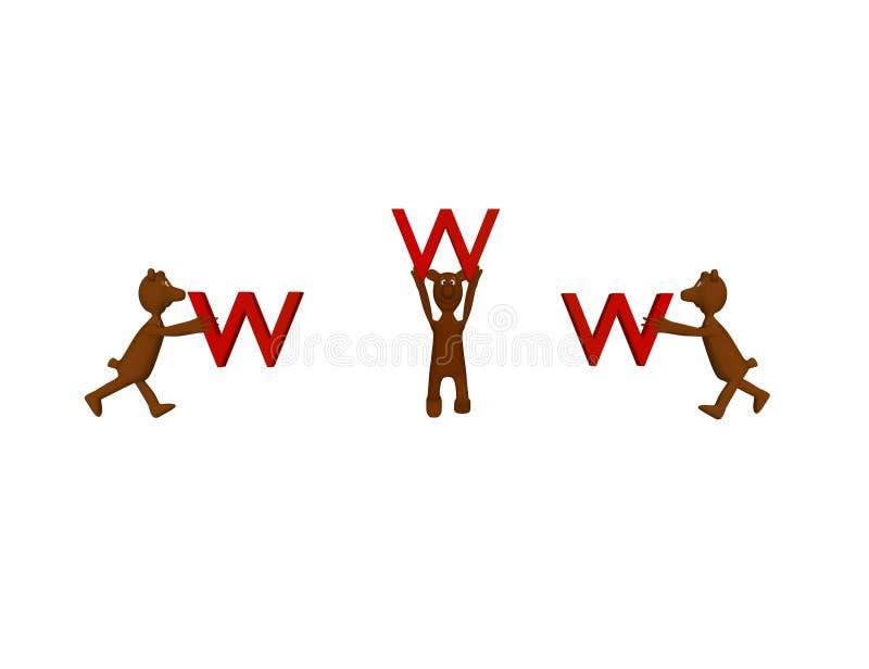 Draagt en www stock illustratie