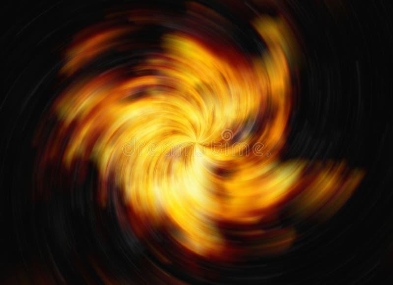 Draai van heldere explosieflits op zwarte achtergronden branduitbarsting royalty-vrije illustratie