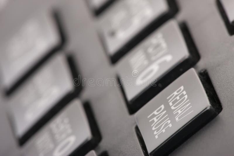 Draaiend het concept van het telefoontoetsenbord voor mededeling, contacteer ons en klanten de dienststeun royalty-vrije stock afbeelding