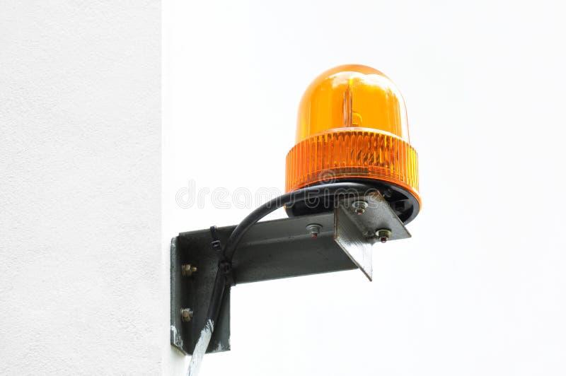 Draaiend oranje licht als baken of sirene royalty-vrije stock foto