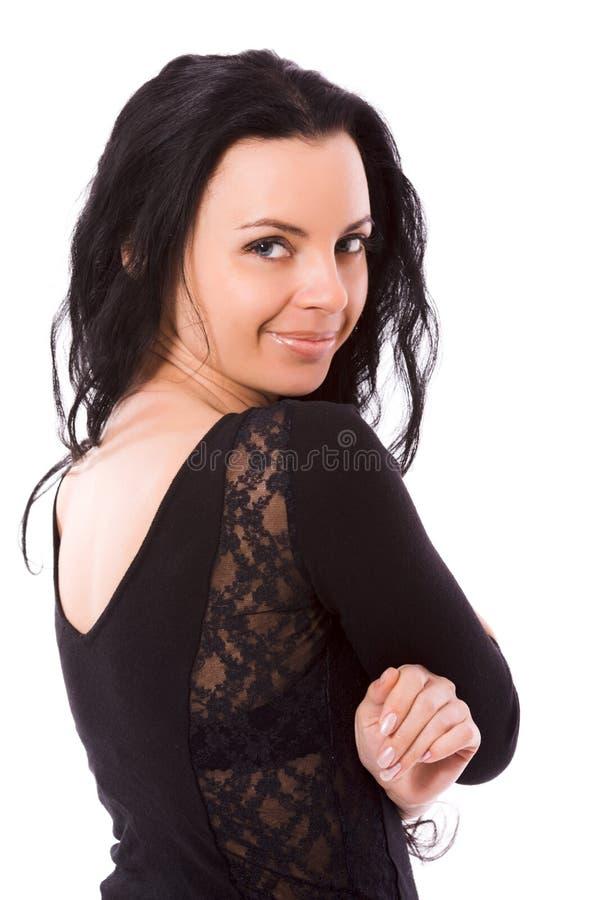 Draaiende vrouw royalty-vrije stock fotografie