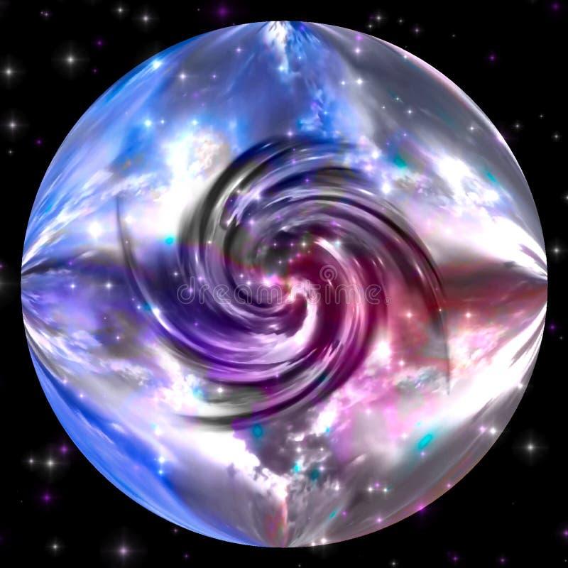 Draaikolk Van Marmeren Planeet Stock Afbeelding