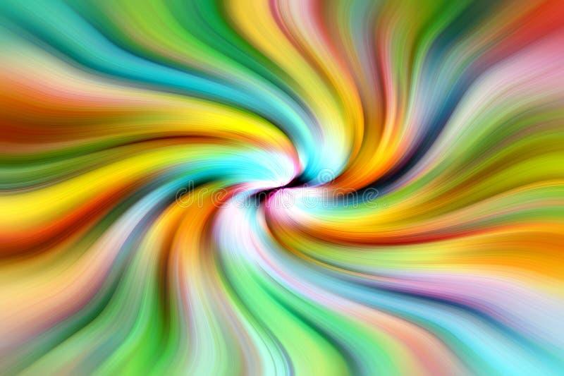 Draaikolk van psychedelische kleuren stock illustratie