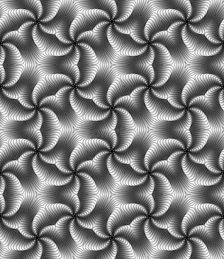 Draaikolk Vector Naadloos Patroon royalty-vrije illustratie