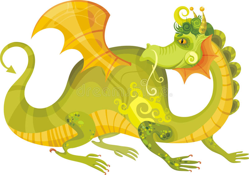 Draak stock illustratie