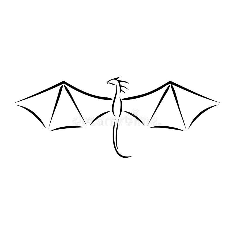 Draak vector illustratie