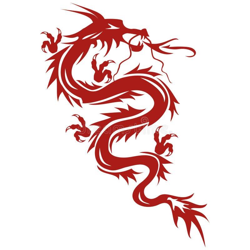 Draak - een symbool van oosterse cultuur royalty-vrije illustratie