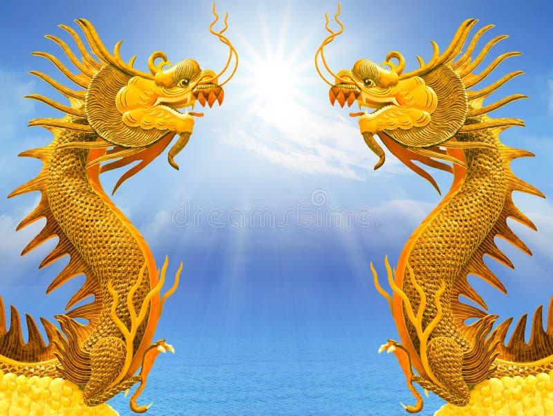 Draak en zonlicht vector illustratie