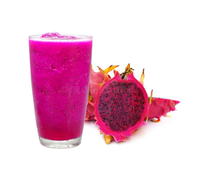 Draakfruit smoothie stock afbeeldingen