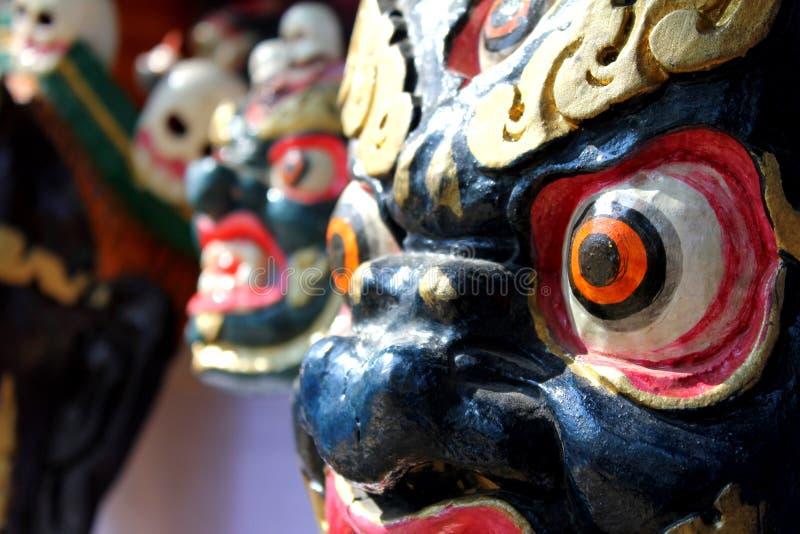 Draakmasker in surajkundmarkt royalty-vrije stock fotografie