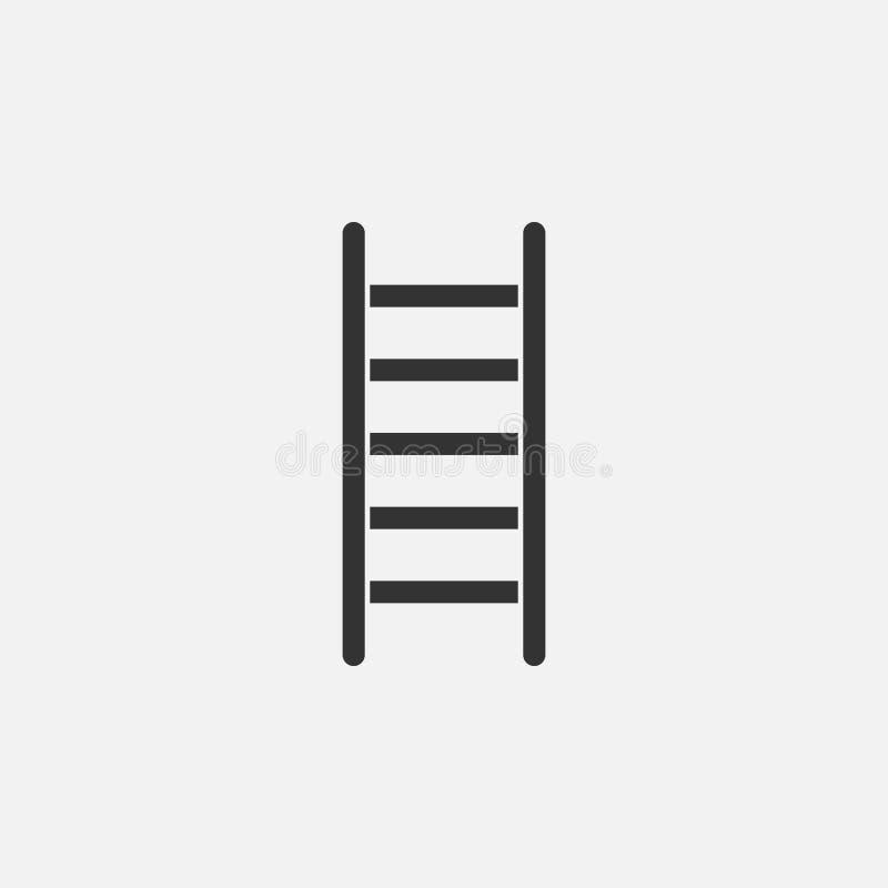 Drabinowa ikona, drabina, stepladder, schodek ilustracji