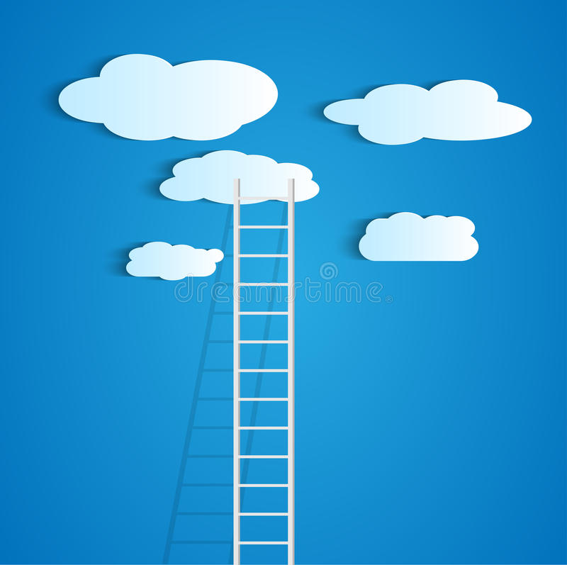 Drabinowe chmury royalty ilustracja