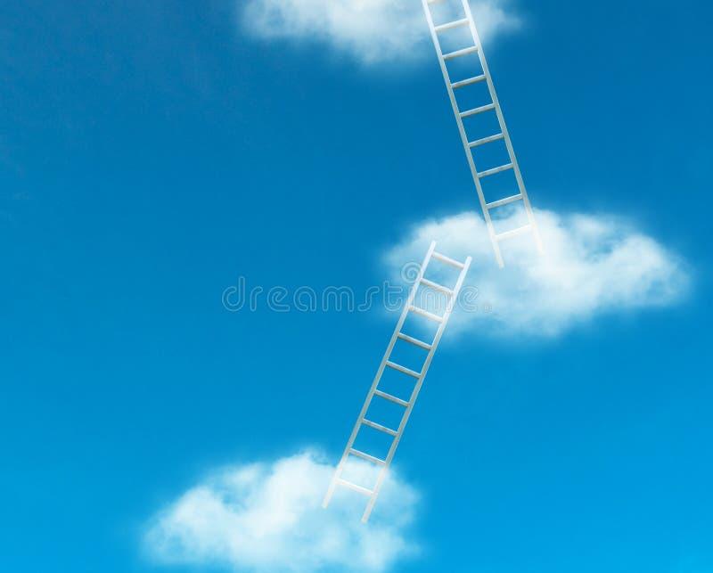 Drabiny w niebie ilustracja wektor
