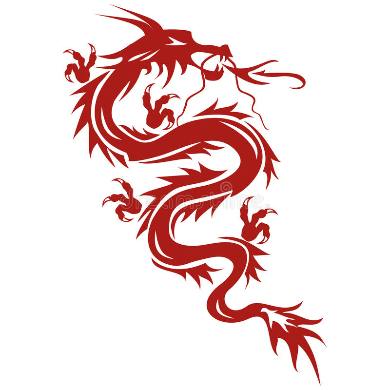Drache - ein Symbol der orientalischen Kultur lizenzfreie abbildung