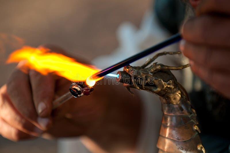 Drache-Flammen stockbild