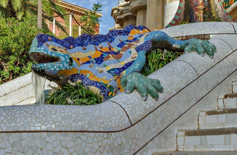 Drache Salamandra Antoni Gaudi, Barcelona lizenzfreies stockfoto