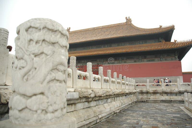 Drache-Spalte, verbotene Stadt, China lizenzfreie stockfotos