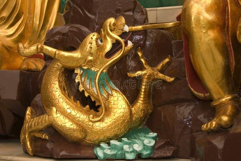 Drache-Statue stockbild