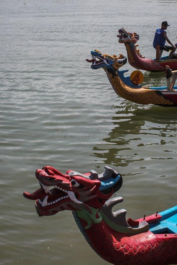 Drachebootswettbewerb am yogyakerta Indonesien lizenzfreie stockfotografie