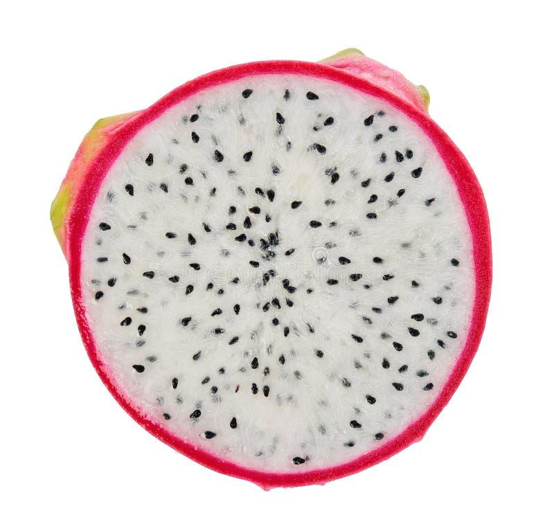 Drachefrucht getrennt auf weißem Hintergrund stockbild