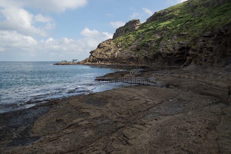 Drachehauptansicht von Yongmeori-Strand, Sanbang-ro, Jeju-Insel, Südkorea lizenzfreie stockfotografie