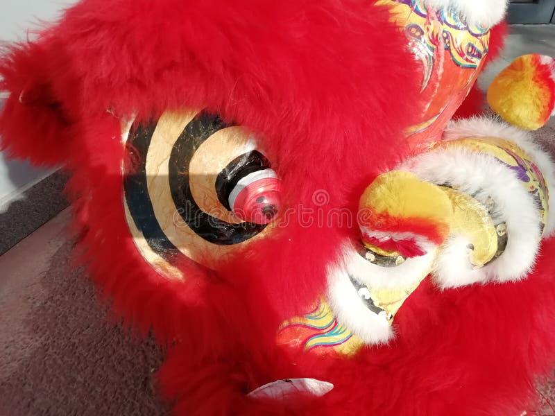 Drachekopf, Chinesisches Neujahrsfest, Peking, China lizenzfreie stockbilder
