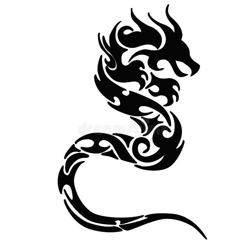 Drachelogo tatto vektor abbildung