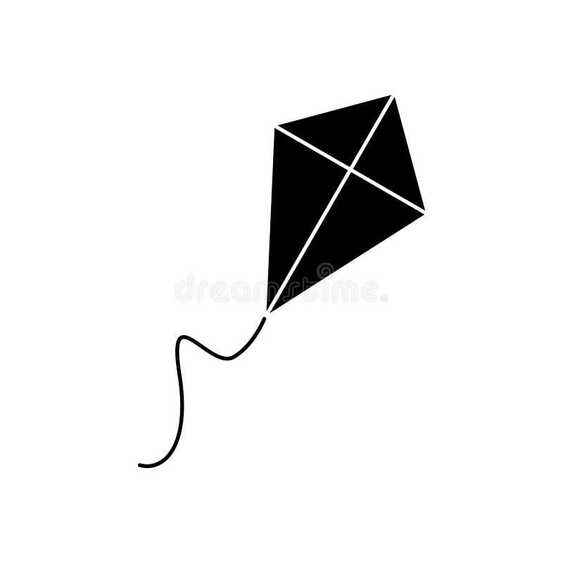 Drachen der schwarzen Ikone lizenzfreie abbildung