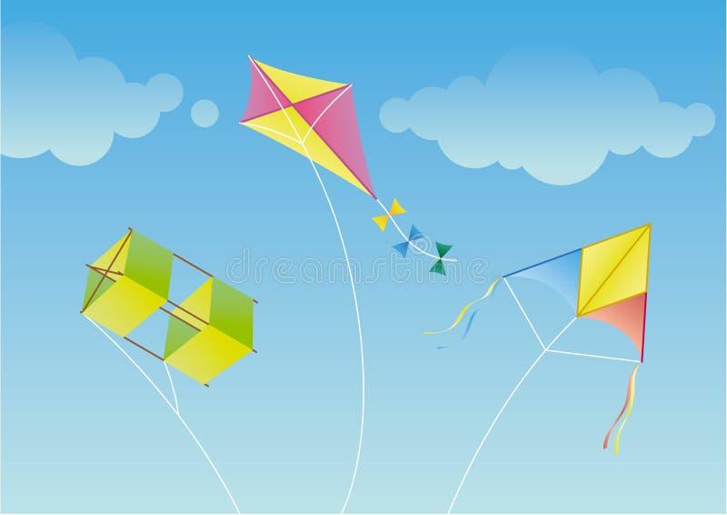 Drachen drei vektor abbildung