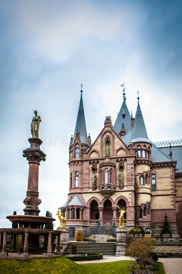 Drachenburg castle royalty free stock photography