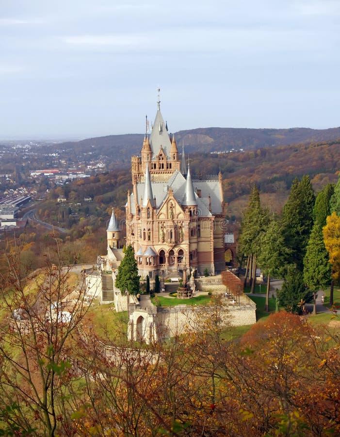 Drachenburg Schloss in Deutschland stockbilder