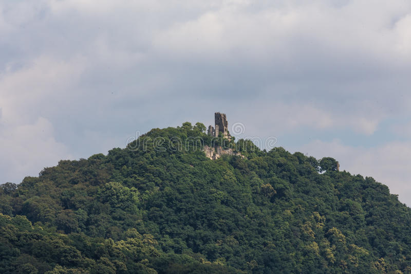 Drachenfels castle ruin koenigswinter germany. The drachenfels castle ruin koenigswinter germany royalty free stock photos